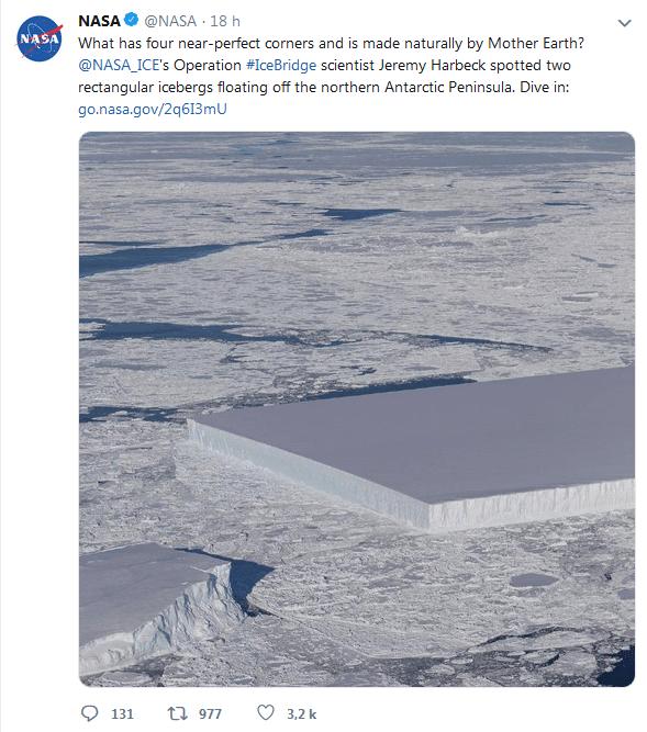 NASA iceberg carré