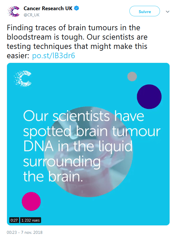 Cancer research UK Twitter