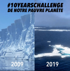 10yearschallenge réchauffement