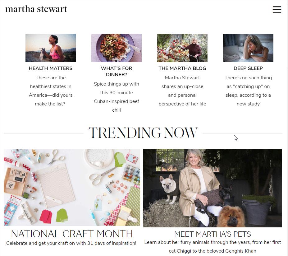 martha stewart site internet