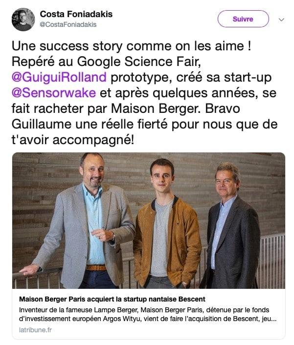 google Bescent startup french tech