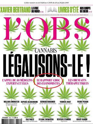 l'obs une légalisation cannabis france