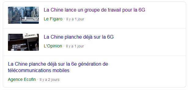 gros-titres chine 6G