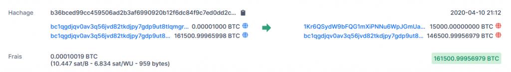 transaction en bitcoins