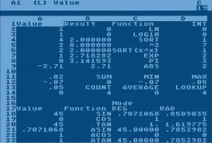 VisiCalc, le premier tableur informatique