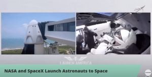 lancement capsule Dragon 2 SpaceX