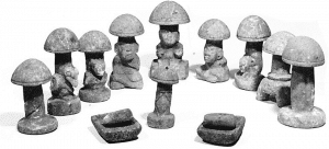 champignons hallucinogènes figurines
