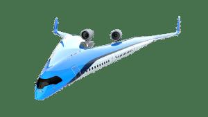 avion aile en V KLM