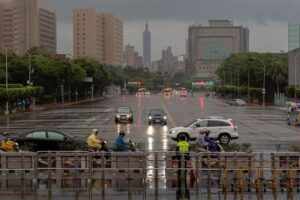 Taipei vidée de sa population